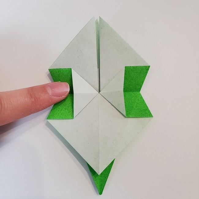 折り紙 菜の花(立体)の折り方作り方2土台 (27)