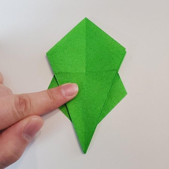 折り紙 菜の花(立体)の折り方作り方2土台 (28)
