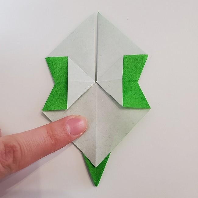 折り紙 菜の花(立体)の折り方作り方2土台 (29)