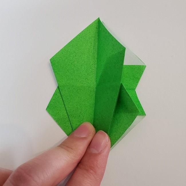 折り紙 菜の花(立体)の折り方作り方2土台 (30)