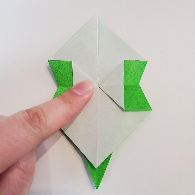 折り紙 菜の花(立体)の折り方作り方2土台 (31)