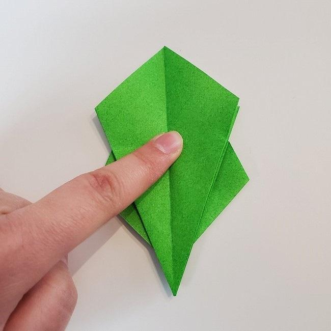 折り紙 菜の花(立体)の折り方作り方2土台 (32)