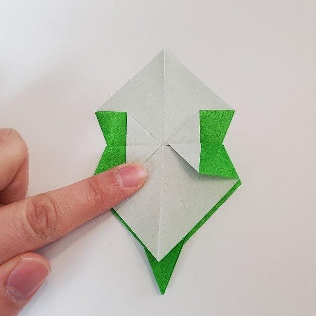 折り紙 菜の花(立体)の折り方作り方2土台 (33)