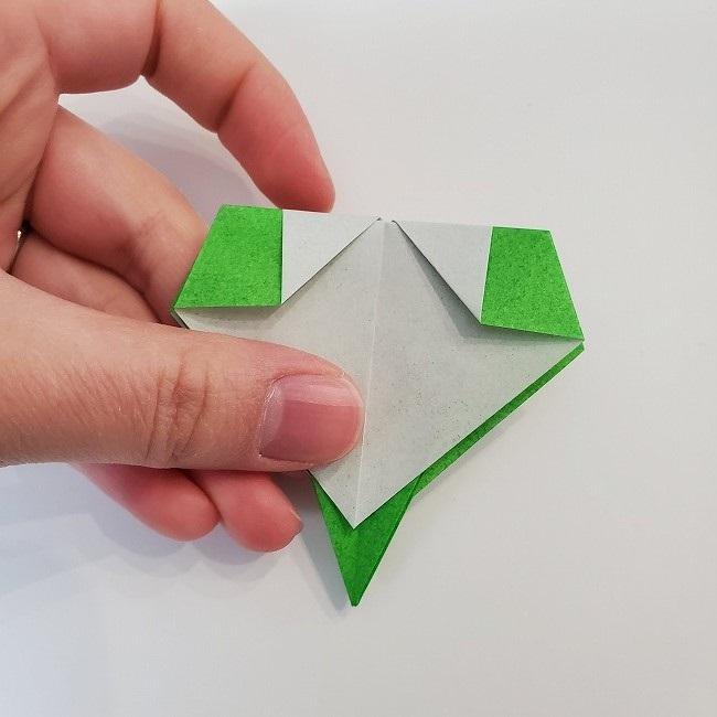 折り紙 菜の花(立体)の折り方作り方2土台 (34)