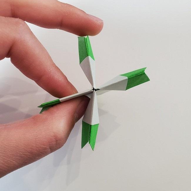 折り紙 菜の花(立体)の折り方作り方2土台 (35)