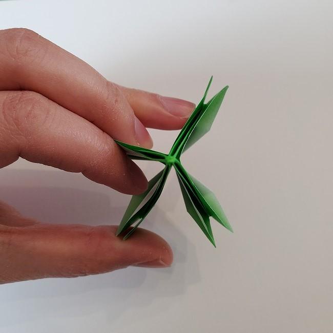 折り紙 菜の花(立体)の折り方作り方2土台 (36)