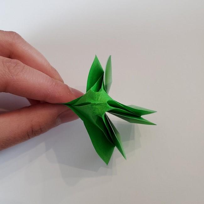 折り紙 菜の花(立体)の折り方作り方2土台 (37)