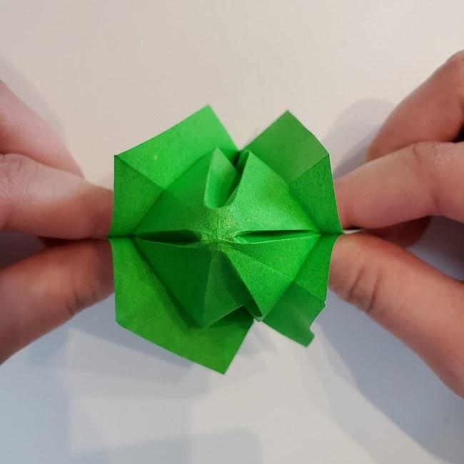折り紙 菜の花(立体)の折り方作り方2土台 (38)