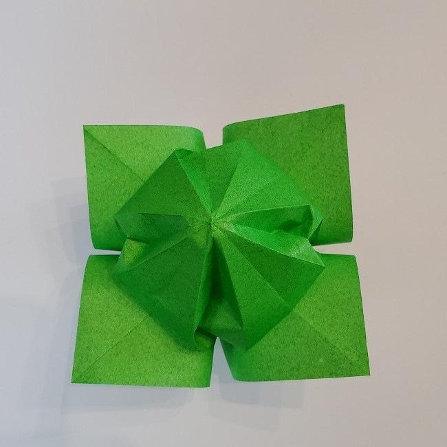 折り紙 菜の花(立体)の折り方作り方2土台 (39)