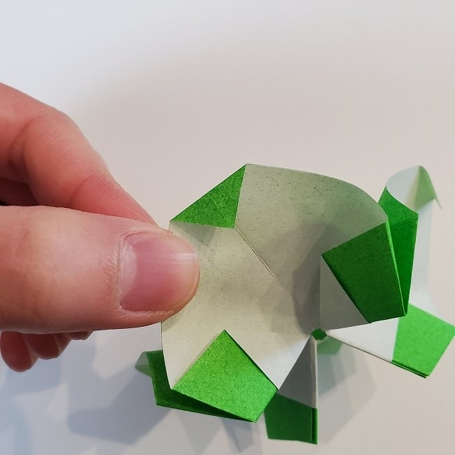 折り紙 菜の花(立体)の折り方作り方2土台 (40)