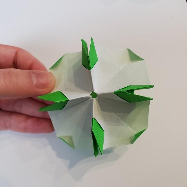 折り紙 菜の花(立体)の折り方作り方2土台 (41)