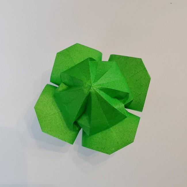 折り紙 菜の花(立体)の折り方作り方2土台 (42)