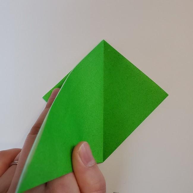 折り紙 菜の花(立体)の折り方作り方2土台 (7)