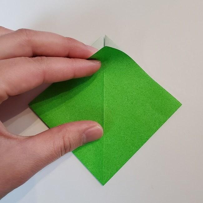 折り紙 菜の花(立体)の折り方作り方2土台 (8)