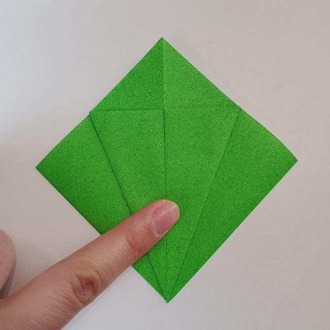折り紙 菜の花(立体)の折り方作り方2土台 (9)