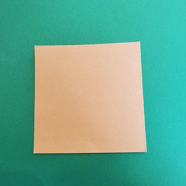 折り紙 魔女の宅急便『キキ』折り方作り方1顔 (1)