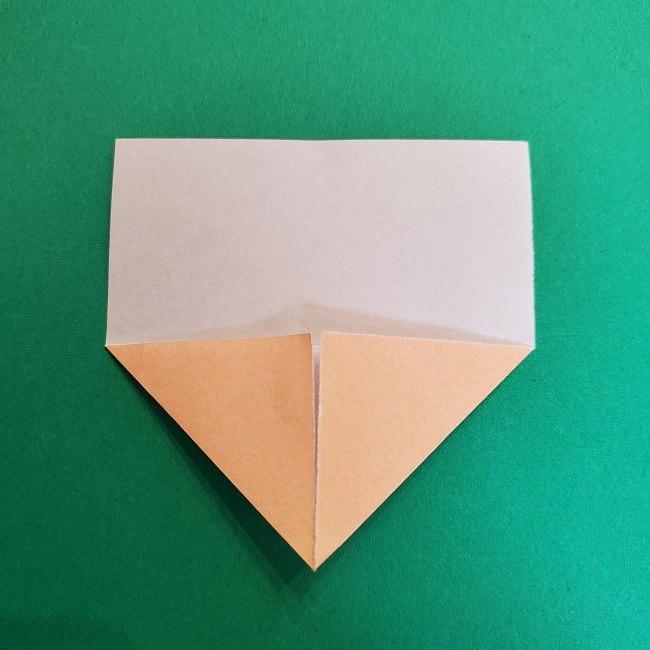 折り紙 魔女の宅急便『キキ』折り方作り方1顔 (4)