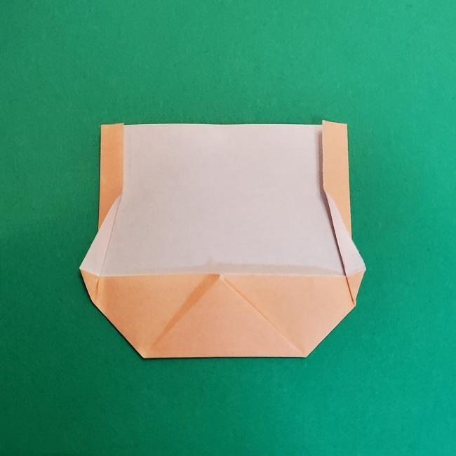 折り紙 魔女の宅急便『キキ』折り方作り方1顔 (7)