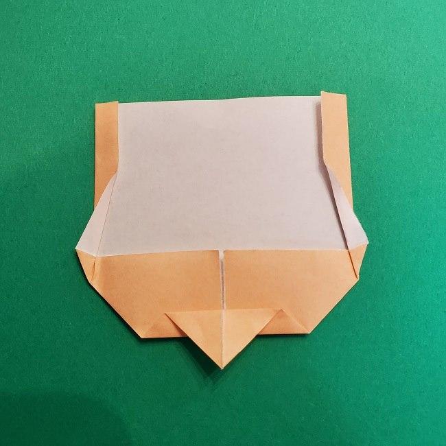 折り紙 魔女の宅急便『キキ』折り方作り方1顔 (8)