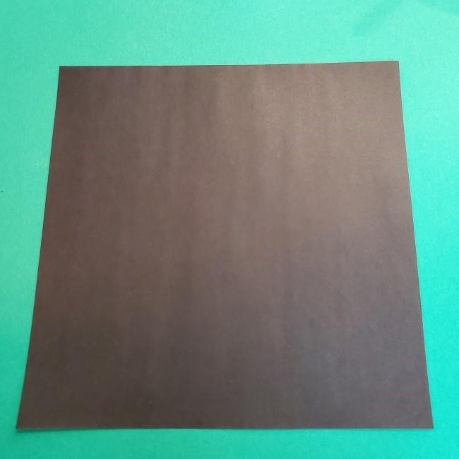 折り紙 魔女の宅急便『キキ』折り方作り方2髪の毛 (1)