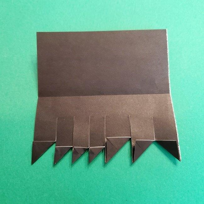 折り紙 魔女の宅急便『キキ』折り方作り方2髪の毛 (21)