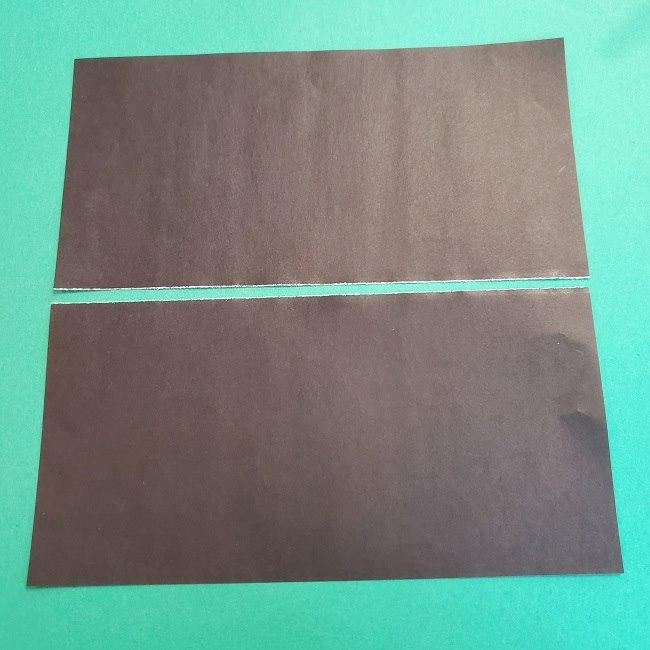 折り紙 魔女の宅急便『キキ』折り方作り方2髪の毛 (3)
