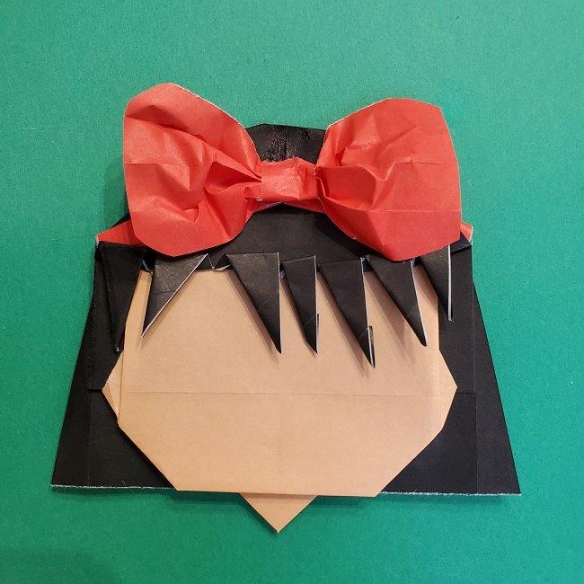 折り紙 魔女の宅急便『キキ』折り方作り方5完成 (10)