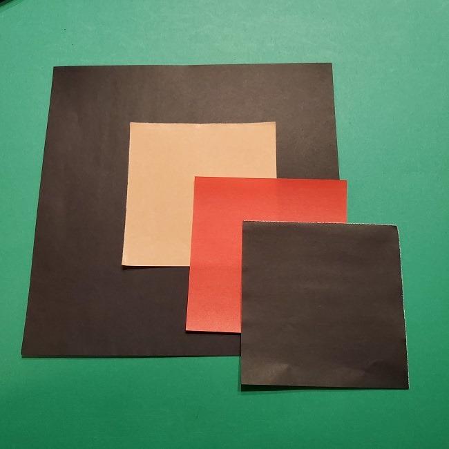 折り紙 魔女の宅急便のキキ*用意する折り紙