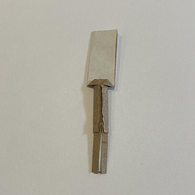 春の折り紙つくしの簡単な折り方作り方 (10)