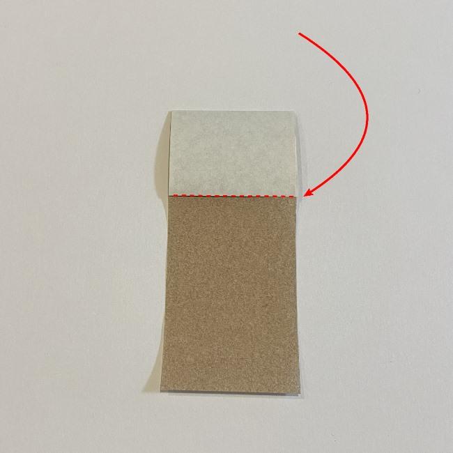 春の折り紙つくしの簡単な折り方作り方 (4)