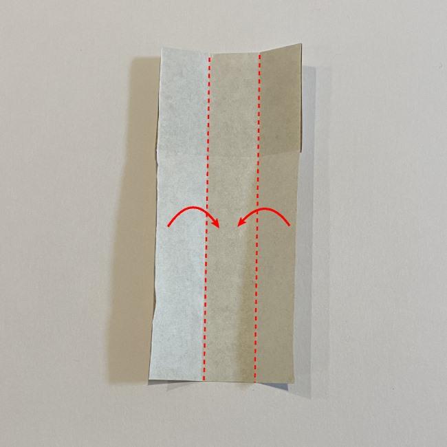 春の折り紙つくしの簡単な折り方作り方 (5)
