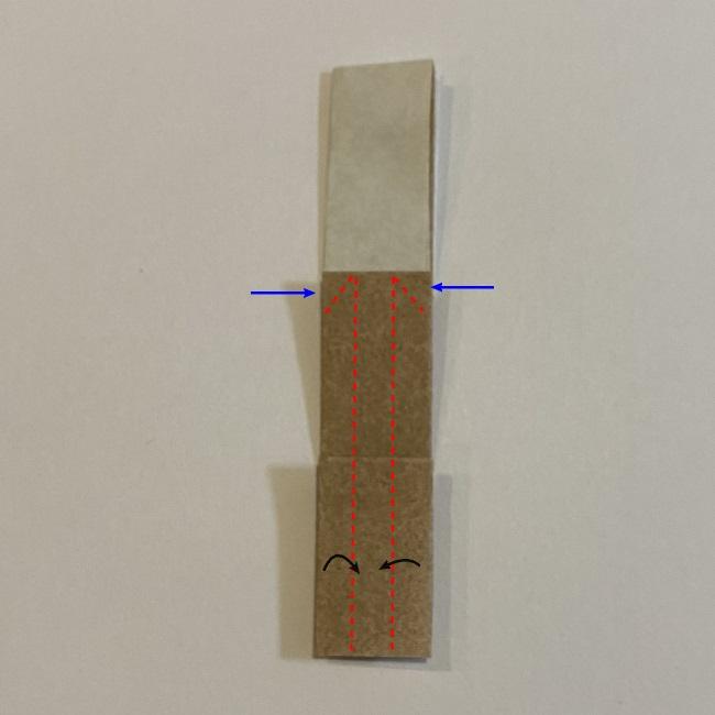 春の折り紙つくしの簡単な折り方作り方 (9)