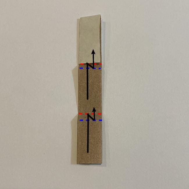 春の折り紙つくしの簡単な折り方作り方7