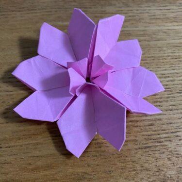 桜の折り紙 切らないで立体的な花をつくる簡単な折り方作り方★