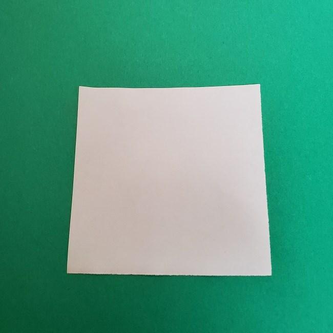 真菰のお面の折り紙 折り方 (1)