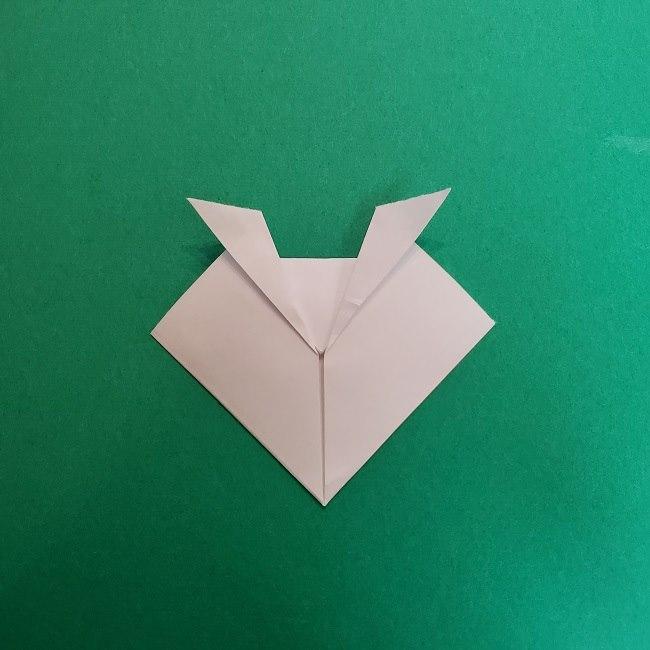 真菰のお面の折り紙 折り方 (5)