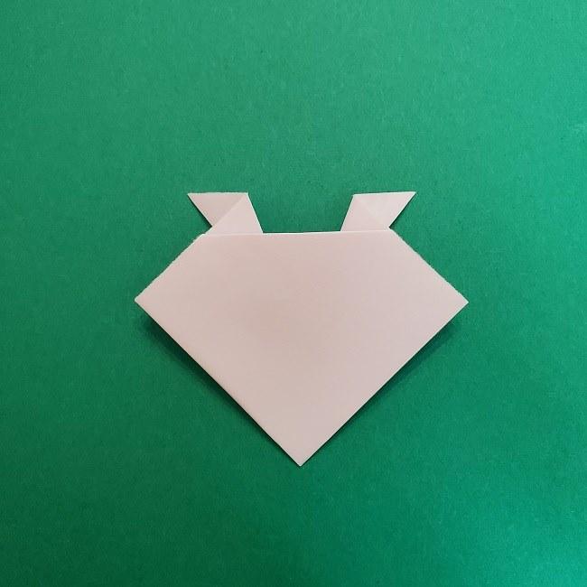 真菰のお面の折り紙 折り方 (6)