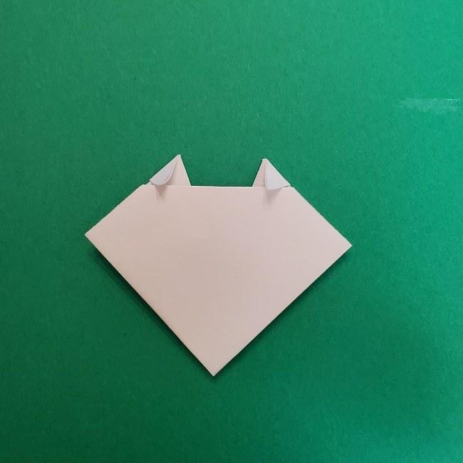 真菰のお面の折り紙 折り方 (7)