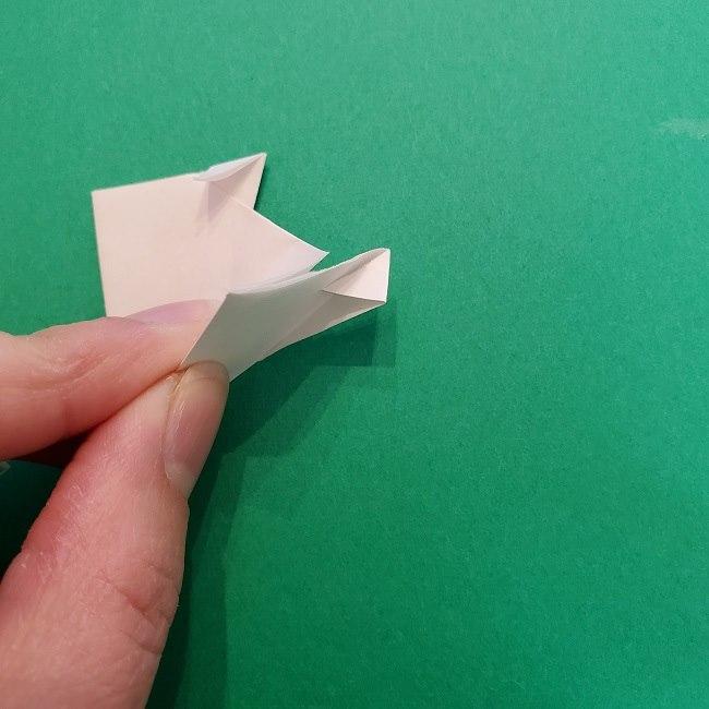 真菰のお面の折り紙 折り方 (8)