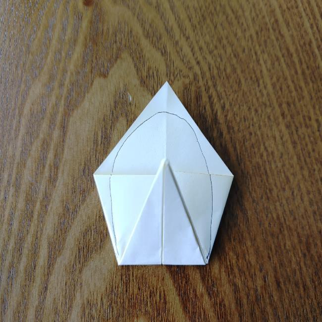 菜の花の折り紙 切り方作り方 (10)