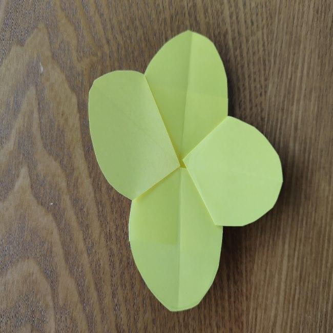 菜の花の折り紙 切り方作り方 (12)