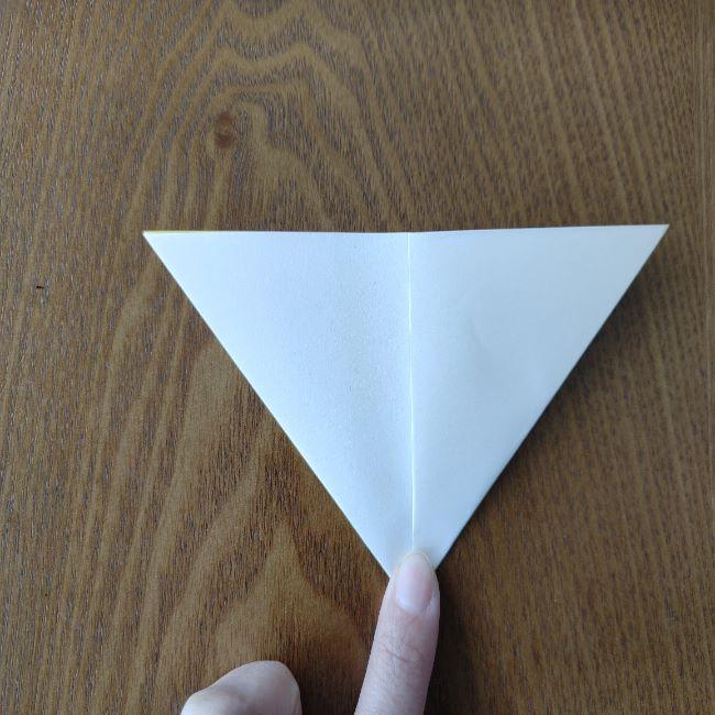 菜の花の折り紙 切り方作り方 (6)