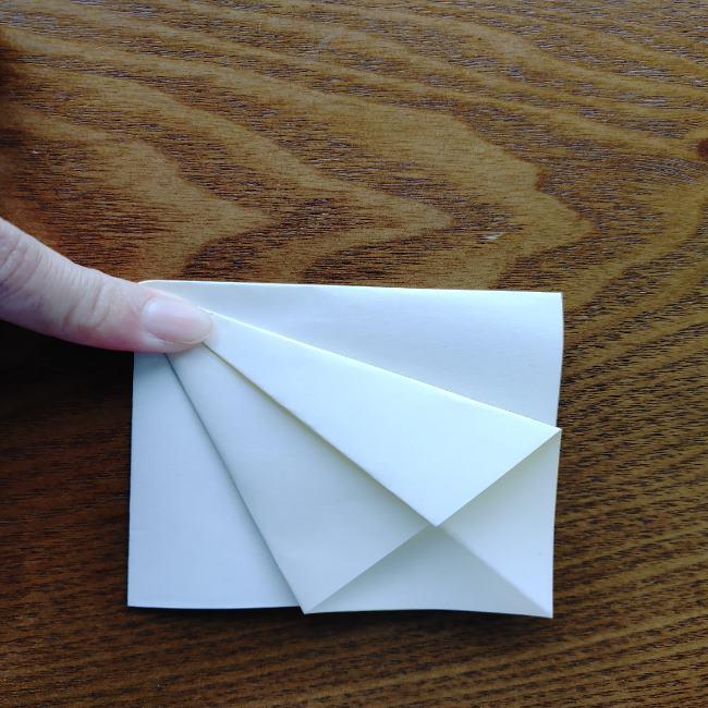 菜の花の折り紙 切り方作り方 (8)