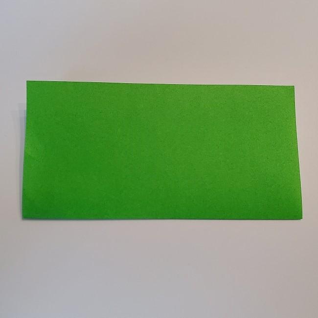 菜の花の折り紙 茎の作り方・折り方 (2)