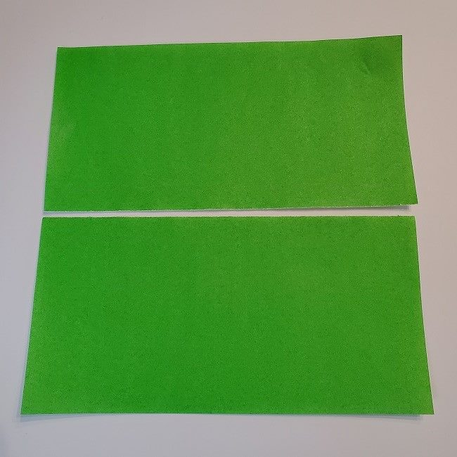 菜の花の折り紙 茎の作り方・折り方 (3)