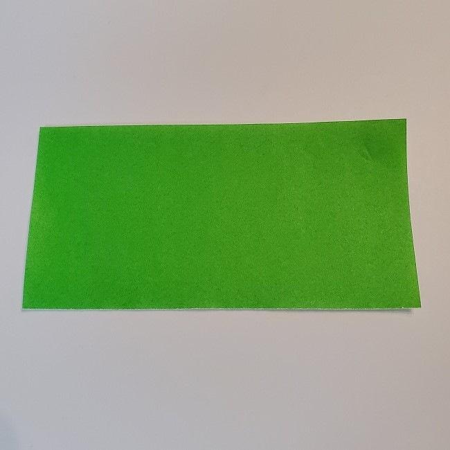 菜の花の折り紙 茎の作り方・折り方 (4)