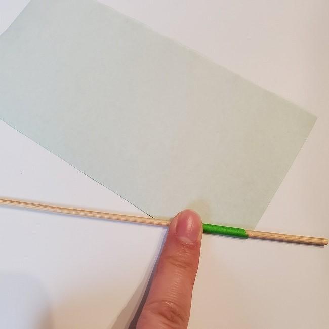 菜の花の折り紙 茎の作り方・折り方 (5)
