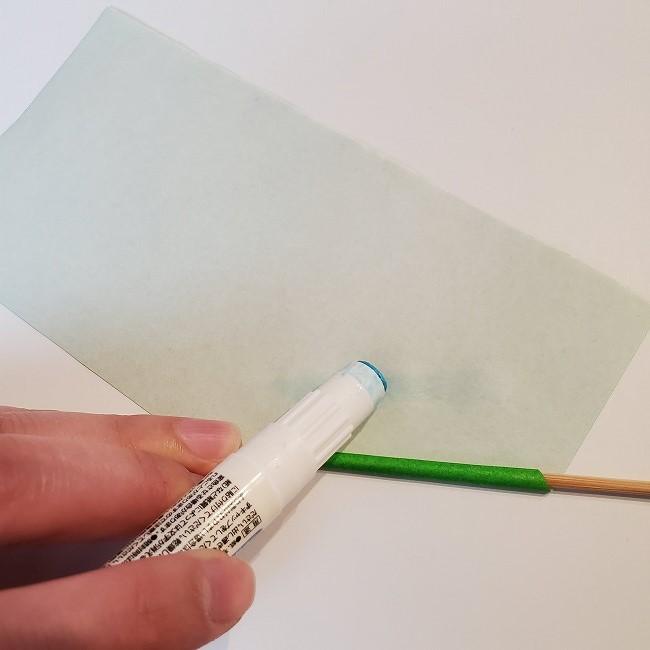 菜の花の折り紙 茎の作り方・折り方 (6)