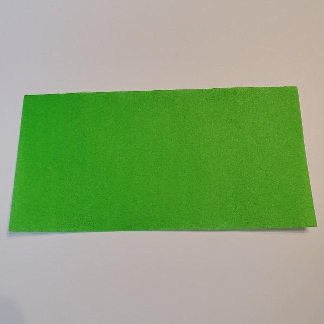 菜の花の折り紙 葉っぱの作り方・折り方 (1)