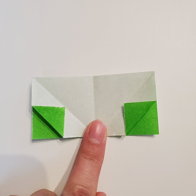 菜の花の折り紙 葉っぱの作り方・折り方 (10)